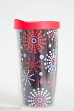 Tervis Hallmark Fireworks 16 oz. Travel Drink Tumbler Cup w. Red Lid