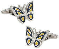 Butterfly Cufflinks - Blue Yellow Direct from Cuff-Daddy