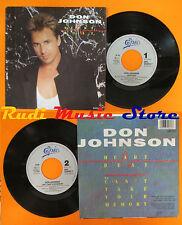 "LP 45 7""DON JOHNSON Heart beat Can't take your memory 1986 holland CBS*cd mc dvd"
