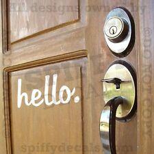 HELLO BYE GOODBYE Home Doorway Foyer Quote Vinyl Wall Decal Decor Sticker Art