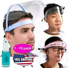Safety Full Face Shield Flip Up Clear Visor Transparent Medical Dental Mask