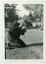 Photographer becomes subjects Vintage B&W  found Photograph snapshot camera