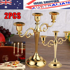 2X3 Arms Metal Candle Holder European Style Candelabra WeddingCandlestick Decor