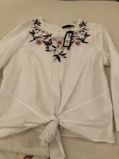 Pretty Embroided Blouse By M&S Size 16 BNWT RRP £29.50