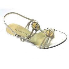Scardavi Sandalo Donna Gioiello Elegante Tacco 90 beige pelle cinturino