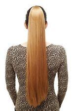 Postiche/Tresse Très Long Lisse Épingle à Cheveux-Papillon Env. 70 Cm Blond