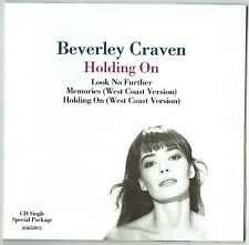 """BEVERLEY CRAVEN - 5"""" CD - Holding On (Special Package) Gatefold.  EPIC"""