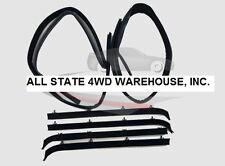 6 Piece Rubber Door Window Weatherstrip Seal Kit for 75-96 Chevy Full Size Van