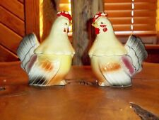 Vintage Chicken salt or Pepper Shaker and Creamer set combination