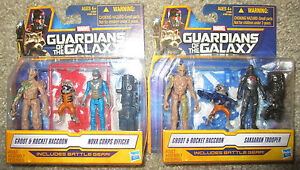 MARVEL GUARDIANS OF THE GALAXY FIGURES RACOON GROOT SAKAATAN TROOPER NOVA CORPS