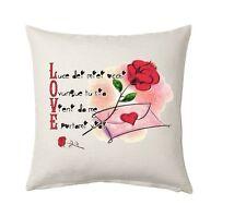 cuscino 40 x 40 scritta ti amo amore SAN VALENTINO i love rosa