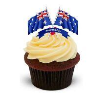 Nouveauté happy australie jour drapeaux (duo) 12 debout comestibles gâteau toppers anniversaire