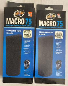 Zoo Med Macro 75 Mechanical Coarse Pre-filter Sponge,Lot Of Two