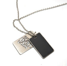 Guess Plate Pendant  Charm Necklace