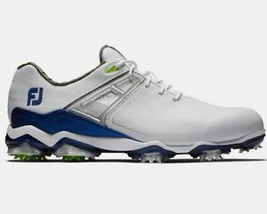 FootJoy Tour X Men's Golf Shoes 55404 White/Navy 12 Medium (D) NEW #83325
