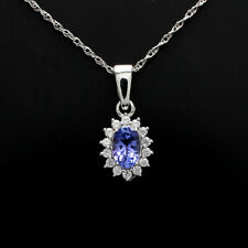 Engagement Wedding 2.5ct Alexandrite Sapphire Pendant Necklace Solid 925 Silver