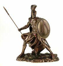 Veronese Leonidas mit Schild und Speer 19 cm Figur Feldherr Spartaner bronziert