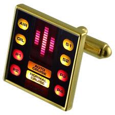 Knight Rider Gold-Tone Cufflinks Crystal Tie Clip Gift Set