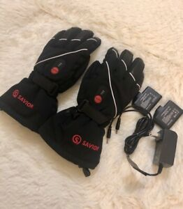 Heated Gloves for Men Women,Rechargeable Heated Skiing,Snowboarding Gloves XXXL