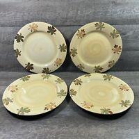 Pottery Barn HARVEST Fall Maple Leaf Leaves Thanksgiving Dinner Plates Set of 4