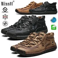 Men's High Top Sneakers Casual Shoes Martin Boots Leather Lace up Ankle Trainers