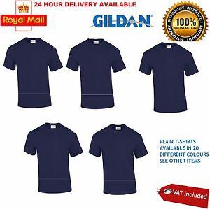 Gildan Mens Tshirt Plain Heavy 100% Cotton Navy Blue Tshirt T Shirt Tee Lot