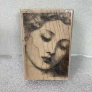 """Rubber Stampede Stamp Suzanne Nicoll 3942F Woman In Repose Wood-Mounted 3.25"""""""