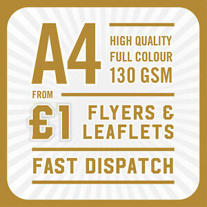 250 Full Colour Printed Flyers / Leaflets - A4 130gsm Gloss