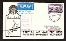 1933 SPECIAL AIR MAIL COVER AUCKLAND INVERCARGILL.   ****NICE****