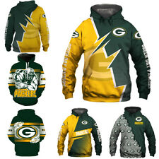 Green Bay Packers Football Hoodies Sweatshirt Hooded Unisex Pullover Jacket Coat