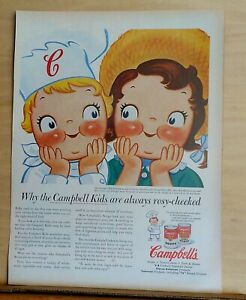 1956 magazine ad for Campbell's - Why are Campbell Kids always rosy-cheeked?