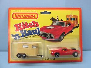 MatchboxSuperfast Twin Pack TP-3 Pony Trailer Set Rare RED AMX Javelin