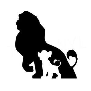 "5.5"" LION KING SILHOUETTE Vinyl Decal Sticker Car Window Laptop Disney Africa"