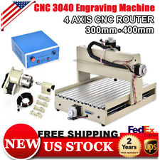 4 AXIS 3040 CNC Router Engraver Engraving 3D CUTTER Drill & Mill Machine MACH3