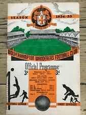 More details for 1954 charity shield wolverhampton wanderers wolves v west brom wba