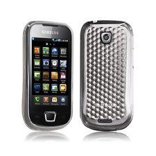 Housse coque gel damier transparent Samsung Galaxy Teos i5800 couleur blanc