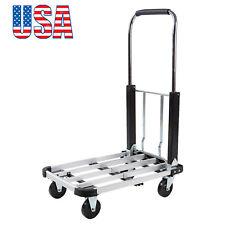 Portable Folding Four-Wheel Flatbed Car Hand Cart Platform Truck USA Shipping