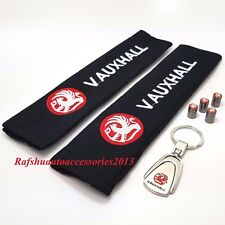 Vauxhall Key Ring + Seat belt cover pads + Tyre valve dust caps vivaro corsa
