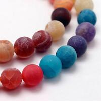 45 Achat Edelstein Perlen 8mm Rund Gemstone Beads Bunte Mix Set DIY R148#3