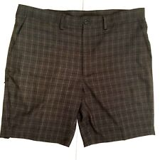 Haggar Mens Shorts 40 Gray Side Zip Pocket Golf Dress Casual EUC