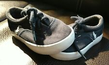 Toddler Boy's Shoes Size 4 Polo Ralph Lauren Navy Blue side pony spell out laces