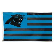 Carolina Panthers Wincraft NFL Americana Striped 3x5 Deluxe Flag FREE SHIP!