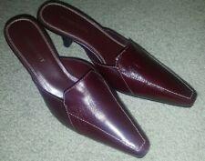 """Karen Scott 462 Alana 65 Wine Leather 3"""" Size 8M Women Mules, NWT"""