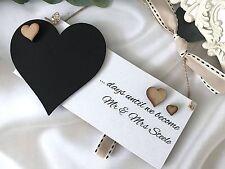 Countdown to wedding wood chalk sign shabbychic engagement gift PERSONALISED P81