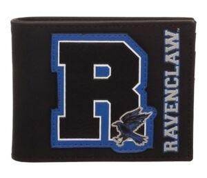Harry Potter R Ravenclaw Crest Bi-Fold Wallet Black Faux Leather Mens Licensed