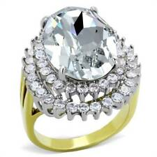 Cubic Zirconia Cluster Oval Costume Rings