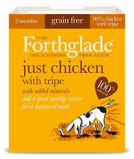 FORTHGLADE NATURAL JUST CHICKEN WITH TRIPE 18 x 395 gram trays GRAIN FREE