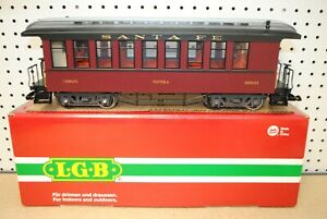 LGB 38805 Santa Fe Topeka Passenger Coach Car w/Lights *G-Scale* (1 of 2)