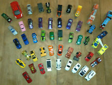 Lot of 50 used Hotwheels, Matchbox and other toy cars, trucks, trains