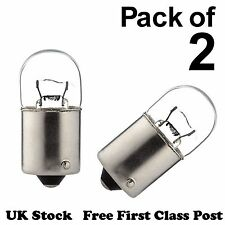 2x 6V 3W BA15s SCC Bulbs, Large 15mm dia. LLB 205, P205, 6 volt, 3 watt - [B39]